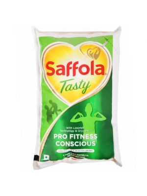 Saffola Tasty Refined Oil 1 Ltr Pouch