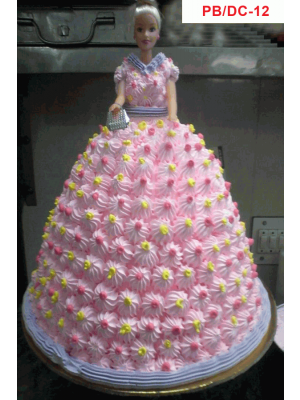 CAKES-FLOWER AND BARBIE CAKE-COMBO - CB100