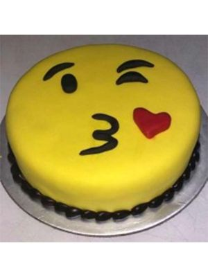 Winking Smiley Cake
