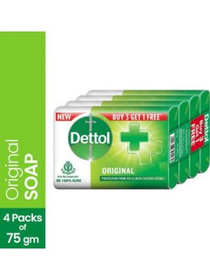 Detol soap 75gm Buy 3 get 1 Free