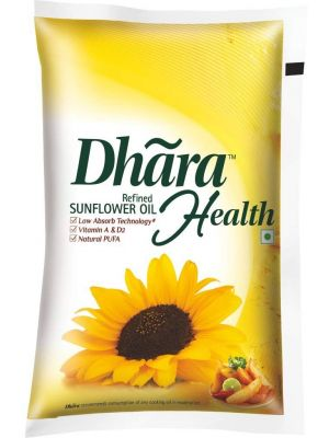 Dhara Refined Sunflower Oil 1 Ltr Pouch