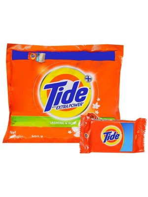 Tide extra power plus detergent powder 500g  plus 1 tied soap  free