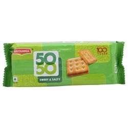 Britannia 50-50 top sweet and salt biscuits 200gm